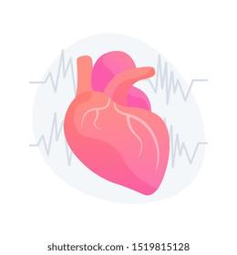 Cardiology clinic, hospital department. Healthy heart, cardiovascular prevention, healthcare industry idea design element. Electrocardiogram, EKG. Vector isolated concept metaphor illustration