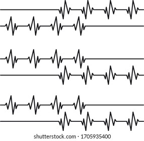 Cardiology line, vector, background illustration