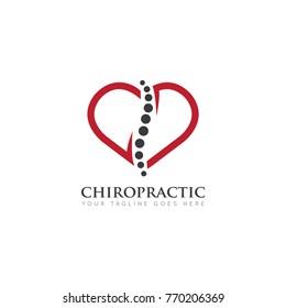 care chiropractic logo, icon design template