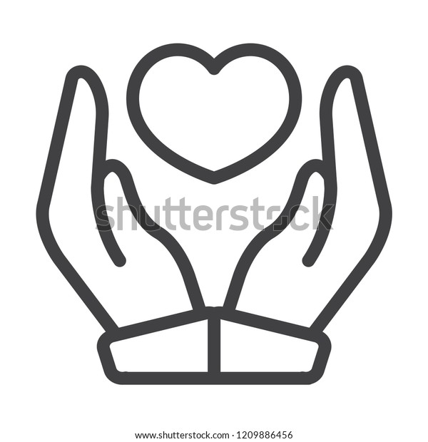 Care heart vector icon