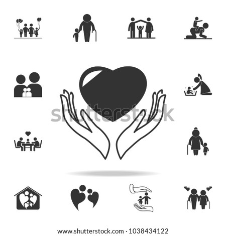 Care Icon Detailed Set Family Icons Stock Vector (Royalty