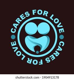 Care For Love Logo Design Vector