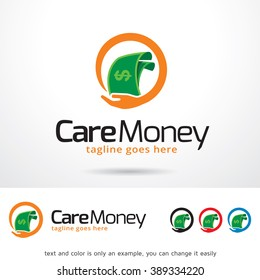 Care Money Logo Template Design Vector