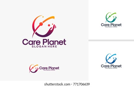 Care Planet logo designs vector, Care Place logo template