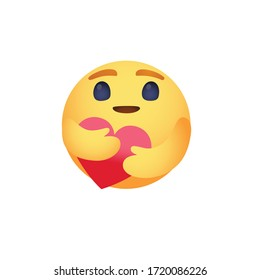 Care reaction love emoji vector design