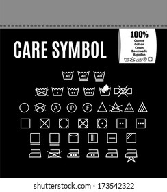 Care symbol icon set.