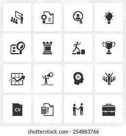 Career and business vector icons. File format is EPS8.