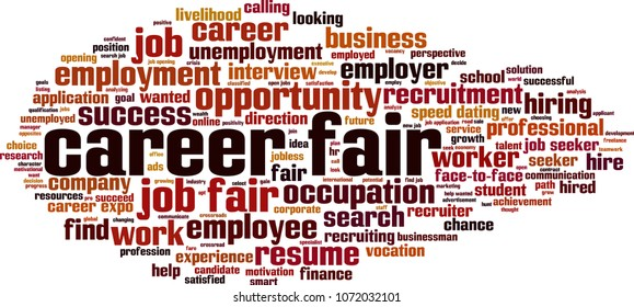 Career fair word cloud concept. Vector illustration