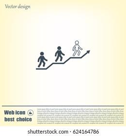 Career growth, Business progress, vector illustration