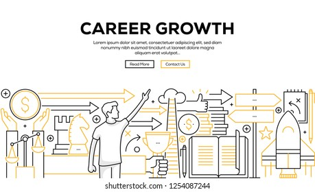 CAREER GROWTH INFOGRAPHIC CONCEPT