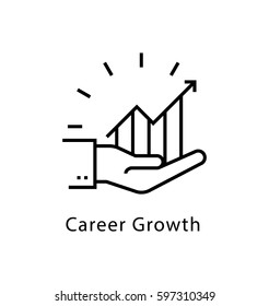 Career Growth Vector line Icon