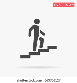 Career Icon vector. Simple flat symbol. Perfect Black pictogram illustration on white background.
