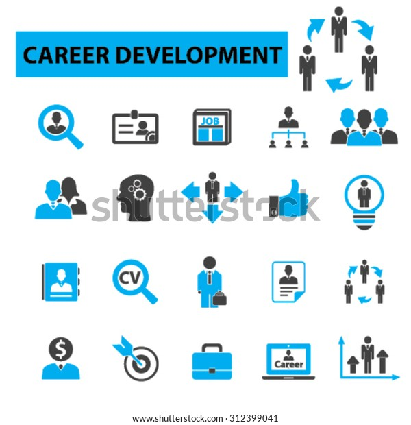 Career Interview Cv Human Resources Organization Stock Vector