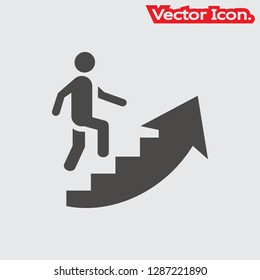 Career ladder icon isolated sign symbol and flat style for app, web and digital design. Vector illustration.