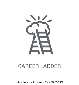 career Ladder icon. Trendy career Ladder logo concept on white background from Startup Strategy and Success collection. Suitable for use on web apps, mobile apps and print media.
