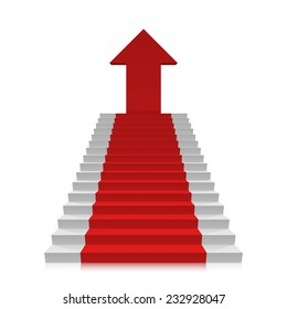 Career ladder to the top. Vector illustration