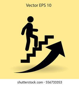 Career ladder vector icon