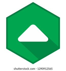 Caret arrow up green vector icon illustration