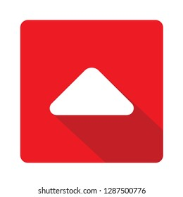 Caret arrow up red vector icon illustration