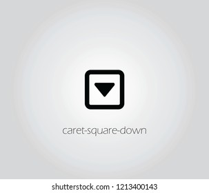 caret square icon vector