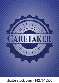 Caretaker with jean texture. Vector Illustration. Detailed.