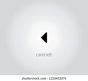caret-left  icon vector