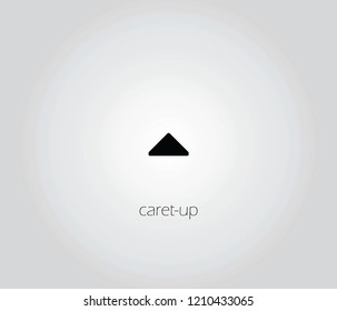 caret-up  icon vector