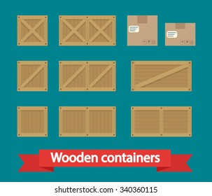 Cargo Boxes icon vector. Flat icon isolated on the white background. Vector illustration.