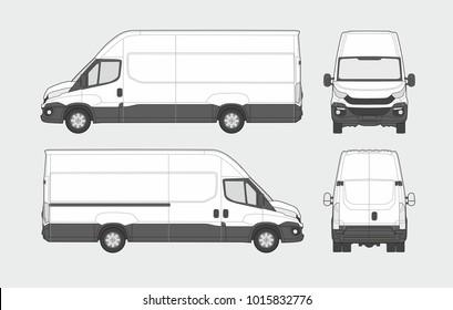 Cargo commercial van template