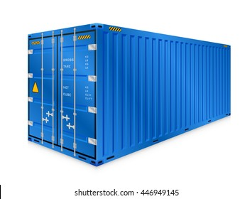 Cargo container or shipping container with strength for shipment storage and transport goods product and raw material between location or country, International trade equipment to exchange goods.