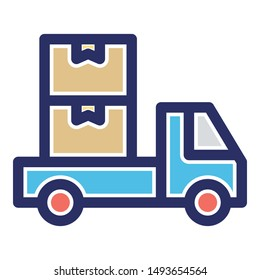 Cargo, delivery truck Vector icon which can easily modify or edit