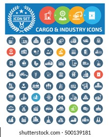 Cargo and industry icon set,vector