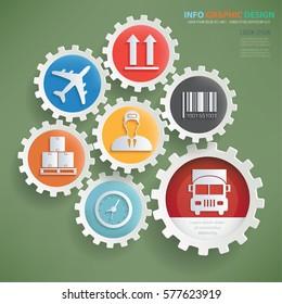 Cargo info graphic design,clean vector
