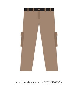 cargo pant flat icon. You can be used cargo pant icon for several purposes like: websites, UI, UX, print templates, presentation templates,info-graphics, web and mobile phone apps.
