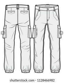 Cargo pants with large side pockets