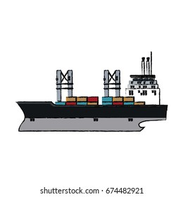 cargo ship containers export cranes industrial