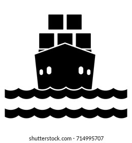 cargo ship flat icon