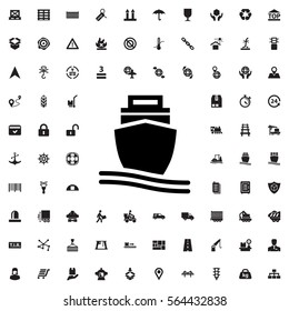 cargo ship icon illustration isolated vector sign symbol
