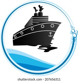 Cargo ship logo/Cargo ship/Vector design