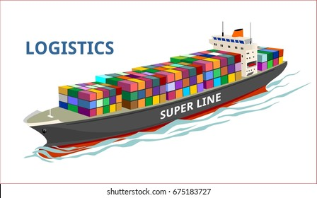 cargo ship transportation container sea logistic nautical international ocean, shipping industry