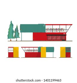 Cargo Store Building Concept Design, For business purposes