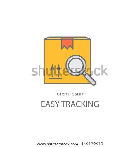 Cargo Cargo Tracking Logotype Design Templates Stock Vector (Royalty