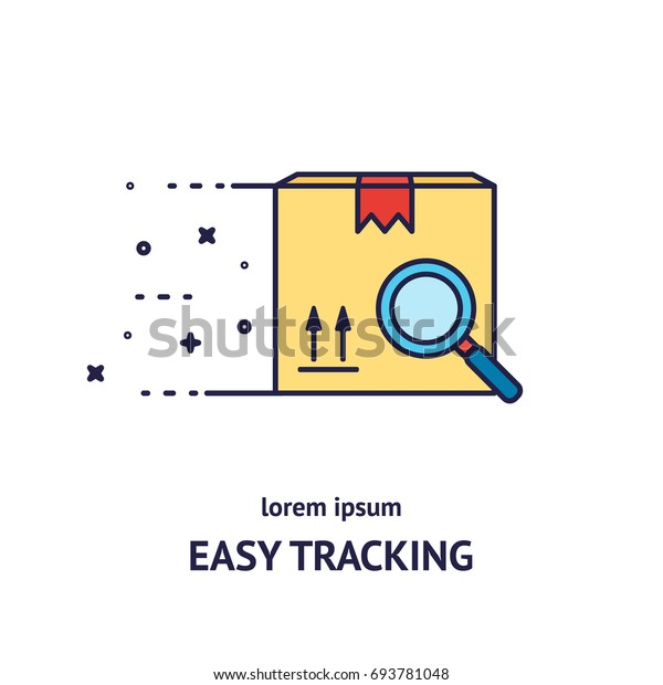 Cargo Cargo Tracking Logotype Design Templates เวกเตอร์สต็อก (ปลอด