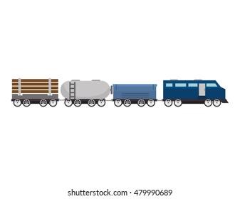 cargo train rail transport vehicle