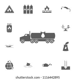 cargo transportation of gasoline icon. Detailed set of Oil icons. Premium quality graphic design sign. One of the collection icons for websites, web design, mobile app