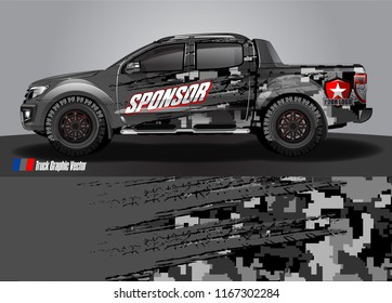 cargo truck decal wrap design vector. abstract background for vehicle vinyl branding