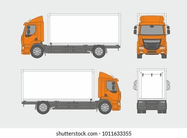 Cargo truck vector template