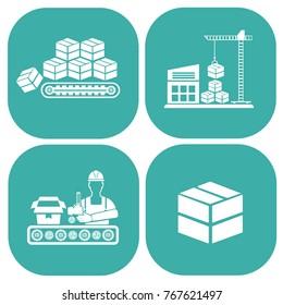 Cargo and warehouse icon set,vector