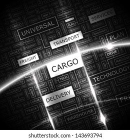 CARGO. Word cloud concept illustration.