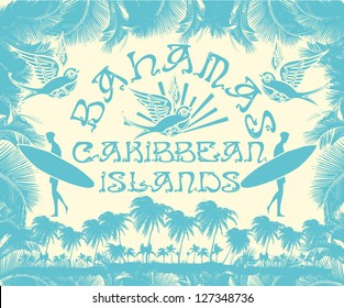 caribbean island vector art